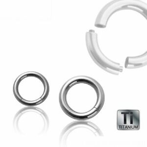 Piercing Titan Segmentring Bauch Ohr Nase Lippe Universal Silber Brust Ring