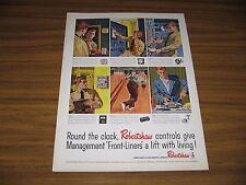 1961 Print Ad Robertshaw Controls Man Bowling Mechanical Pin Setting