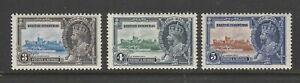 BRITISH HONDURAS 1935 • KGV Silver Jubilee MLH SG143/144/145