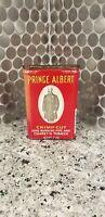 Vintage Red Prince Albert Crimp Cut Long Burning Cigar And Cigarette Tobacco Tin