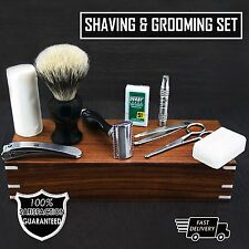 10 Pcs Men's Shaving Kit With Badger Hair Brush,De Safety Razor,Soap etc etc