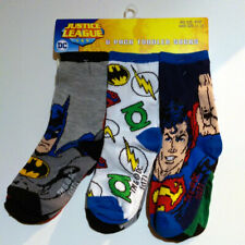 Dc Justice League Boys 6 Pack Crew Socks Baby/Toddler/Little Kid Infant 4T-5T