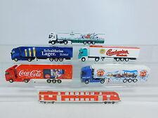 AU936-1# 5x Albedo H0 CAMION Volvo/Renault/MB: Budweiser+Salah+Stauder+Cola