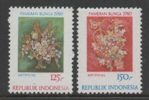 Indonesia 1980 Flower Festival set of 2 MUH