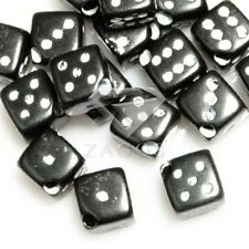 45pcs Acrylic Dice Cube Spacer Beads 6x6x6mm Black Wholesale Jewellery Making
