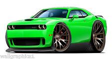 2015 Dodge Challenger HELLCAT SRT Wall Decals Graphics Garage Decor Boys Room