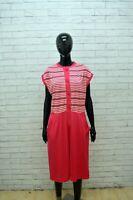 Vestito Donna LUISA SPAGNOLI Taglia 48 Abito Tubino Dress Tajer Fucsia Cotone