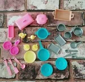 Vintage Barbie Kitchen Cookware Bundle Mixed Items Replacements Spare 1980s?