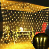 US 96/200LED String Net Mesh Light Curtain Christmas Wedding Party Xmas Decor