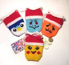 Christmas gift bags knitting pattern: pokemon pikachu charmander squirtle piplup