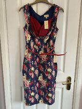 Lindy Bop Floral Sweetheart Pencil Dress - Size 10 - BNWT