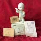"""PRECIOUS MOMENTS 1984 """"12378"""" """"HAPPINESS IS THE LORD"""" NEW IN BOX-NEVER DISPLAYED"""