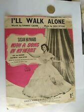Vintage Music Sheet : I'll Walk Alone (With A Song In My Heart).