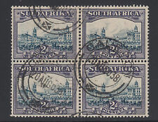 South Africa Sc 37 used 1938 redrawn 2p Government Buildings, Block of 4