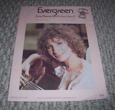 1976 Evergreen Love Them from A Star is Born Barbra Streisand Sheet Music