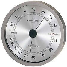 EMPEX Super EX High quality Temperature and humidity meter metallic gray EX-2727