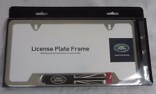 land rover brand genuine oem polished stainless steel license plate frame new