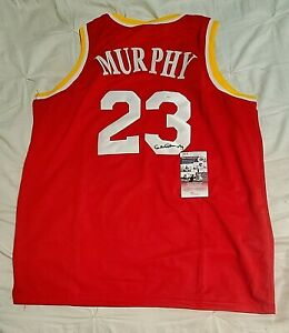 Houston Rockets CALVIN MURPHY Signed Autographed Basketball Jersey JSA COA XL