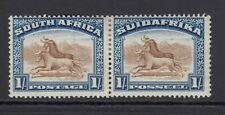 South Africa 1927 1s Brown & Dp Blue SG36 - Mtd Mint