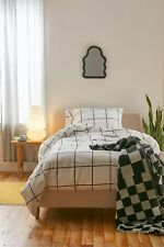 Urban Outfitters Distressed Check Duvet Set, Twin Xl / Extra Long
