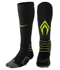 Nike Elite Vapor Baseball Socks Men's Shoe 8-12 Black, Volt Over Calf SX4844-696