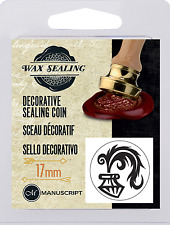 QUILL PEN & INK LOGO DECORATIVE SEALING WAX COIN SEAL FOR BLANK HANDLE 737QUI
