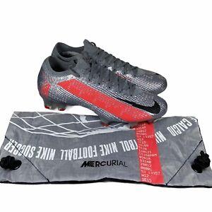 Nike Mercurial Vapor 13 Elite FG Soccer Cleats Silver Red AQ4176-906 Mens Size 6