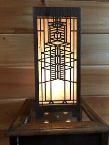 Lightbox Accent Lamp Solid Black Walnut (Design # 2)