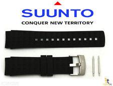 Suunto Elementum Terra Original Black Rubber Watch Band Strap Kit w/ 2 Pins
