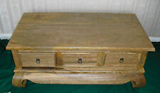 coffee table solid wood 3 drawer from light mango wood CVapollo(uk)