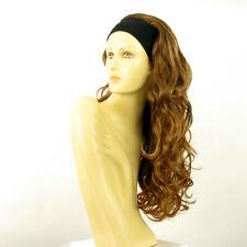 Perruque avec bandeau châtain cuivré méché blond clair ref KAMELYA en 6BT27B