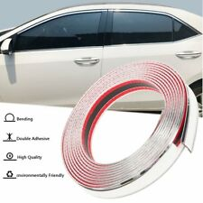 20ft 30mm Chrome Self Adhesive Car Edge Styling Moulding Trim Strip Protector
