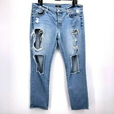 7 For all Mankind Womens Sz 30 Distressed Ripped Jeans Cropped Grunge