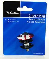"""XLC BICYCLE STEM CAP, STAR NUT AND BOLT, RED, 1-1/8"""", 25.4mm"""