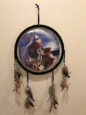 Free Shipping! Holographic Dream Catcher, Indian Princess Baby Wolf Mother Wolf