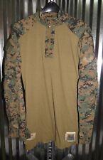 USMC US Marine Corps Woodland MARPAT FROG Combat Shirt Medium Long M/L