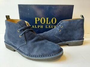 Polo Ralph Lauren Talan Chukka Navy Blue Suede Mens 10 D/M Leather $125