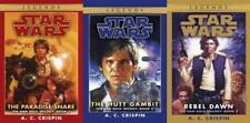 Star Wars HAN SOLO TRILOGY by A C Crispin PAPERBACK Collection Set of Books 1-3