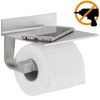 Wangel Porta rotolo Carta Igienica Colla Brevettata + Autoadesivo Alluminio F...