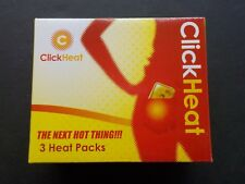 NEW Click Heat Hand/Pocket Warmer - 3 Pack Yellow