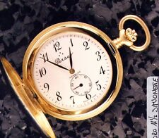 NEW PERSEO VINTAGE MONTRE DE POCHE EN OR 750 18K GOLD POCKET WATCH TASCHEN-UHR