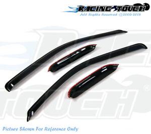 JDM Visors Deflector 4pcs Rain Guard for Subaru Forester 2009 2010-2013 09-13