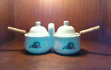 Houston Harvest Gift Products Ceramic Apple Jam and Jelly Server Condiment Set