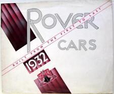 ROVER Range for 1932 10/25HP Pilot Meteor Two Litre Original Car Sales Brochure