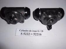 Peugeot 202 / 203 / D3A lot de 2 cylindres de roues arrière en 25,40 mm neuf