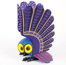 Alebrije Owl Oaxacan Wood Carving Mexican Folk Art Blue Handcrafted Sculpture