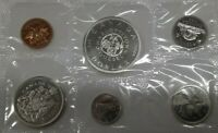 1964 Canada Mint Set- Proof Like- Uncirculated Coin Set- in RCM Pilofilm