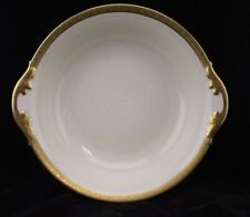 ROYAL IVORY ROUND SERVING BOWL WITH HEAVY  GOLD TRIM 346 75 23
