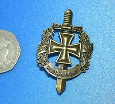 More details for german wehrmacht 1935-1945 pin fastening badge.