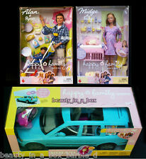 "Pregnant Midge Barbie Doll Baby Alan Ryan Happy Family Volvo G"" Lot 4"